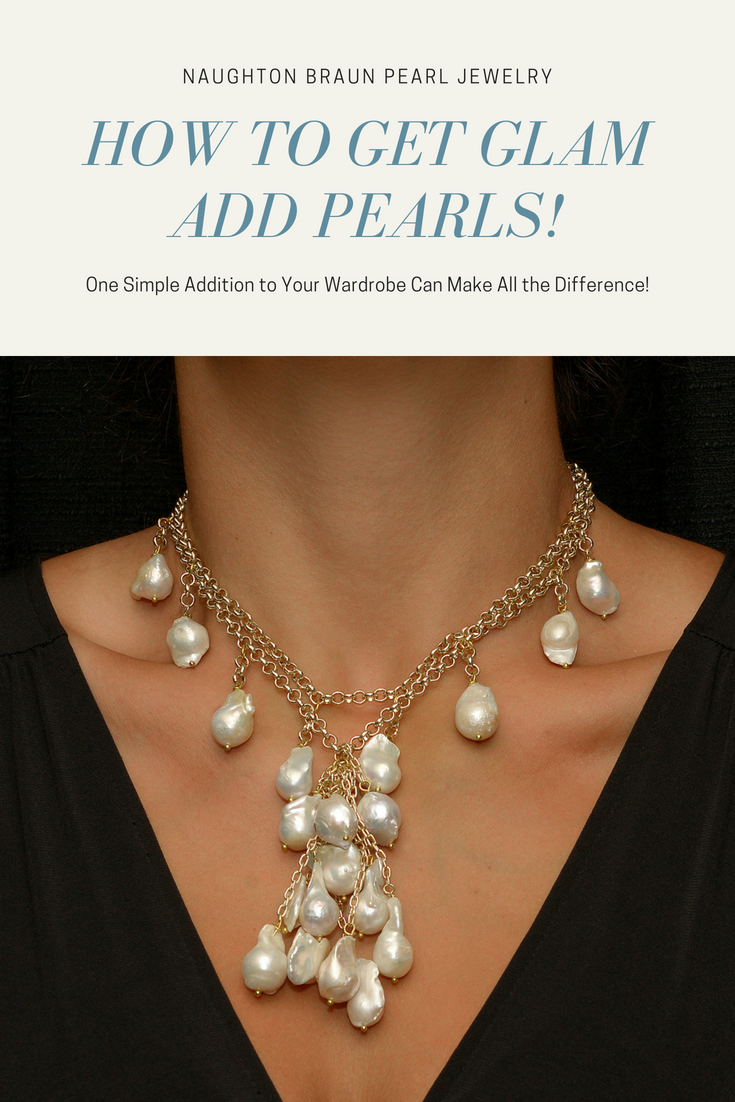 Roma - White Pearl Cascade & Chain Necklace